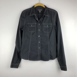Polo Jeans Co Black Button Down Top